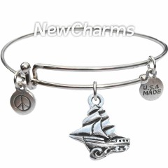 Bangle Bracelet with JT248 Clipper Pirate Ship
