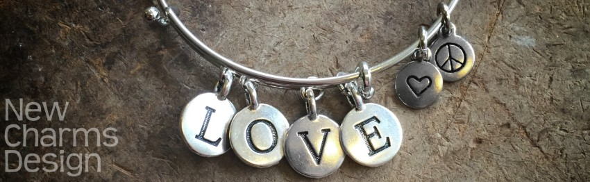 Custom Bangle Bracelet with Letters