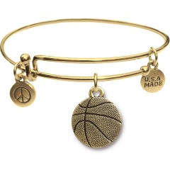 Goldtone Bangle Bracelet and Basketball JT313