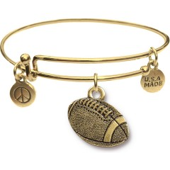 Goldtone Bangle Bracelet and Football JT311