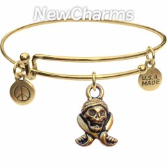 JT156 Gold Pirate Skull