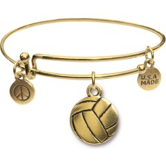 Goldtone Bangle Bracelet and Volleyball JT317