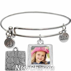 Cute Bangle Bracelet with Photo