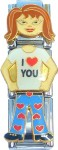 CC7351 I Love You Chick Italian Charm
