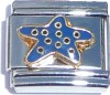 CT1167 Starfish in Blue Italian Charm