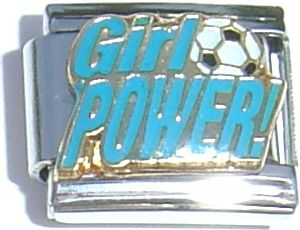 CT1352 Girl Power with Soccer Ball Italian Charm