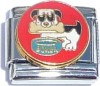CT1431 Dog with Bone and Bowl Italian Charm