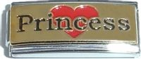CT1642 Princess on Gold (superlink) Italian Charm