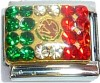 Flag of Mexico with Stones Italian Charm