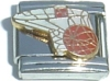 CT3029 Basketball in Hoop Italian Charm