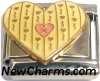 CT3234 Cute Heart Italian Charm