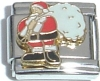 CT3350 Santa with Bag of Toys Italian Charm