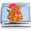 CT9783 Teddy Bear in Winter Italian Charm