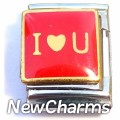 13mmT327 I Love You 13mm Italian Charm