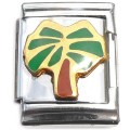 13mmT616 Palm Tree 13mm Italian Charm