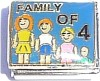 Famil of 4 on Blue