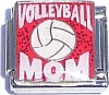 CA9104 Volleyball Mom Italian Charm