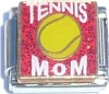 Tennis Mom on Red Italian Charm
