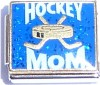 CT9113 Hockey Mom on Blue with Glitter Italian Charm