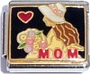 Love Mom Charm with Flowers
