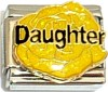 Daughter Yellow Flower Italian Charm
