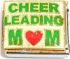 Cheerleading Mom On White Italian Charm