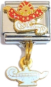 CT9207 Genie and Lamp Dangle Italian Charm