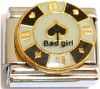 Bad Girl on Casino Chip Italian Charm