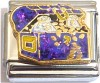 CT9297 Purple Treasure Chest Italian Charm