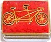 Tandem Bike for Two on Red Italian Charm
