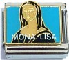 CT9364 Mona Lisa on Blue Italian Charm