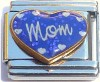 Mom on Heart Italian Charm