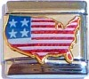 CT6176 USA Flag Italian Charms