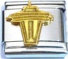 Space Needle in Gold Italian Charm