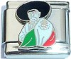 CT6277 Man with Mexican Flag Italian Charm