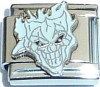 CT6314 White Creepy Face Italian Charm