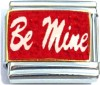 Be Mine on Red with Glitter Italian Charm