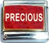 Precious on Red with Glitter Italian Charm