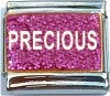 CT6403 Precious on Pink with Glitter Italian Charm
