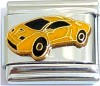 CT6504 Yellow Sports Car Italian Charm