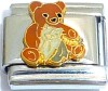 CT6515 Teddy Bear with Kitten Italian Charm