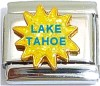 Lake Tahoe on Sun with Glitter Italian Charm