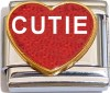 CT6590 Cutie on Red Heart Italian Charms