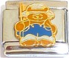 CT6629 Farmer Bear Italian Charm