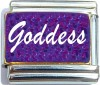 CT6666 Goddess on Purple Italian Charm