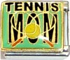 Tennis Mom on Green Italian Charm