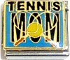 Tennis Mom on Blue Italian Charm