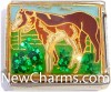 CT9446 Horse on Grass Italian Charm