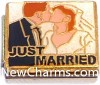 CT9467 Just Married Italian Charm