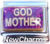 CT9705 God Mother on Purple Italian Charm